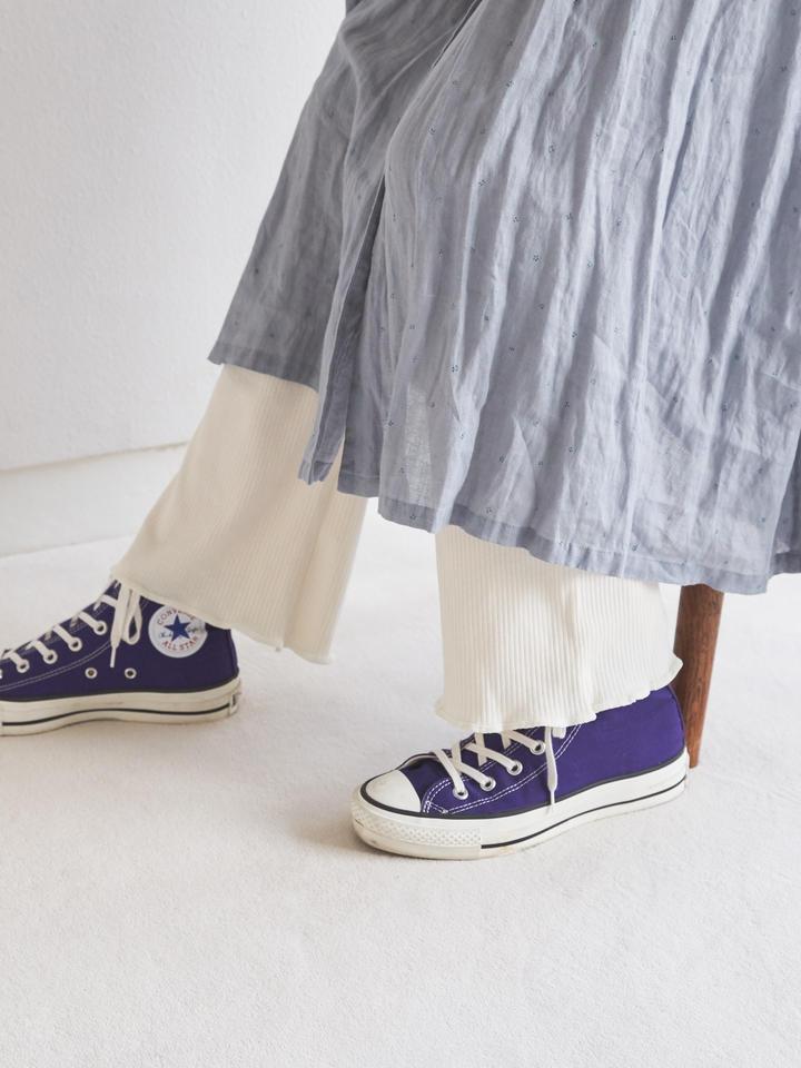靴下屋 縫製リブフレア11分丈レギンス